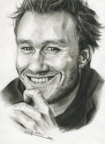 Heath Ledger por Anja